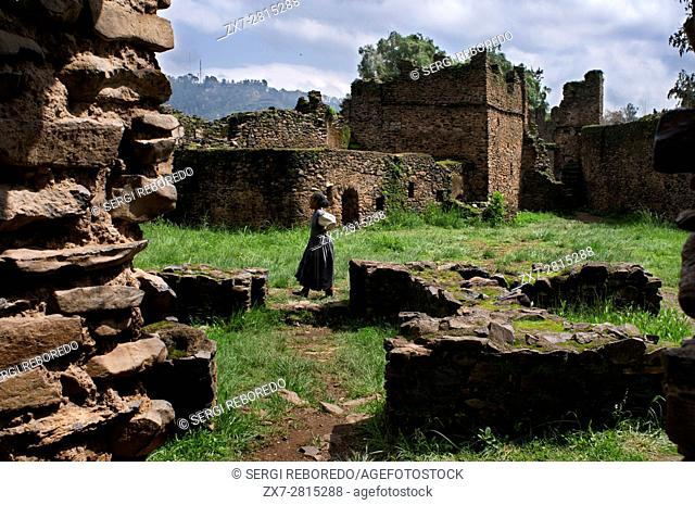 ethiopia, imperial palace, gondar, Stock Photo, Picture And Rights