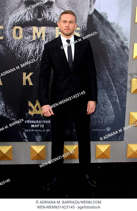 King Arthur: Legend of the Sword Premiere held at the TCL Chinese Theatre in Hollywood. Featuring: Charlie Hunnam Where: Los Angeles, California