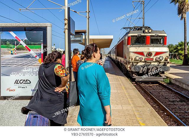 A Train Arrives At Asilah Station, Asilah, Morocco