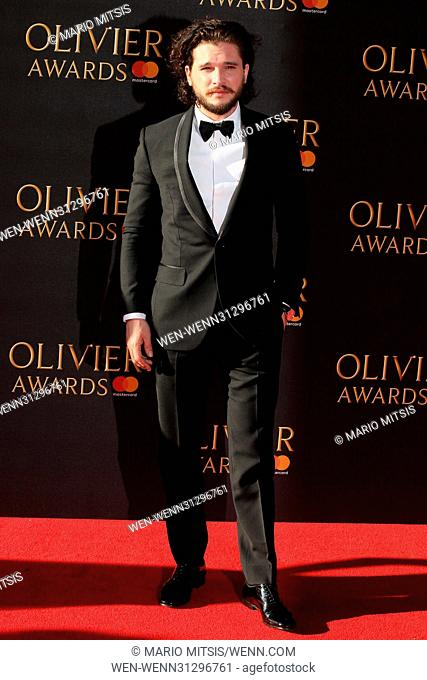 The Olivier Awards 2017 held at the Royal Albert Hall - Arrivals Featuring: Kit Harington Where: London, United Kingdom When: 09 Apr 2017 Credit: Mario...