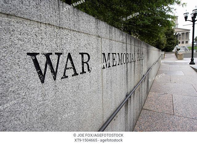war memorial plaza Nashville Tennessee USA