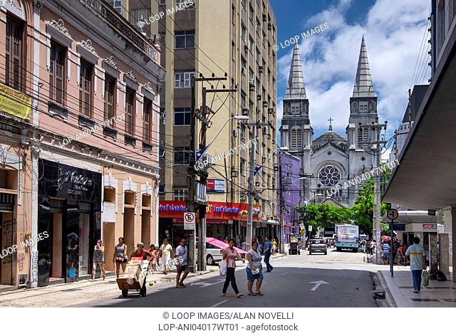 St Josephs Cathedral or Catedral Metropolitana on Rua Castro e Silva in Fortaleza