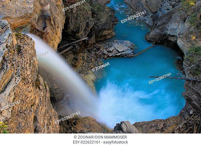 Stanley falls in Beauty creek canyon, Jasper natio