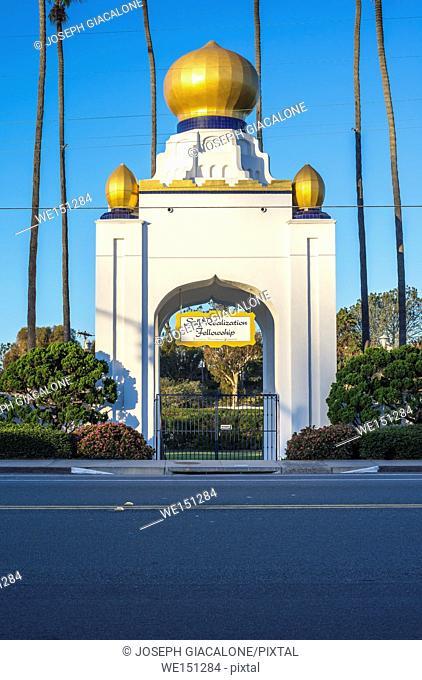 Golden Lotus Dome of the Self Realization Fellowship. Encinitas, California