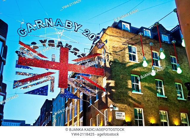 Carnaby Street, Soho, London, W1, UK