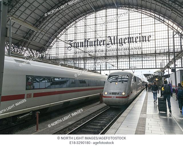 Germany, Frankfurt. Main railway station