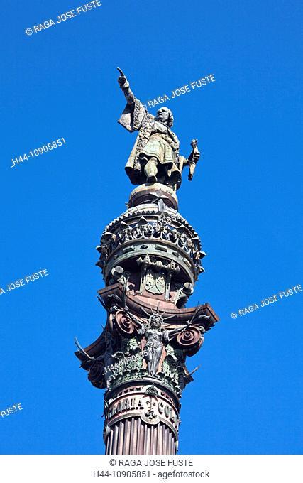 Spain, Europe, Catalunya, Barcelona, City, Columbus, Monument