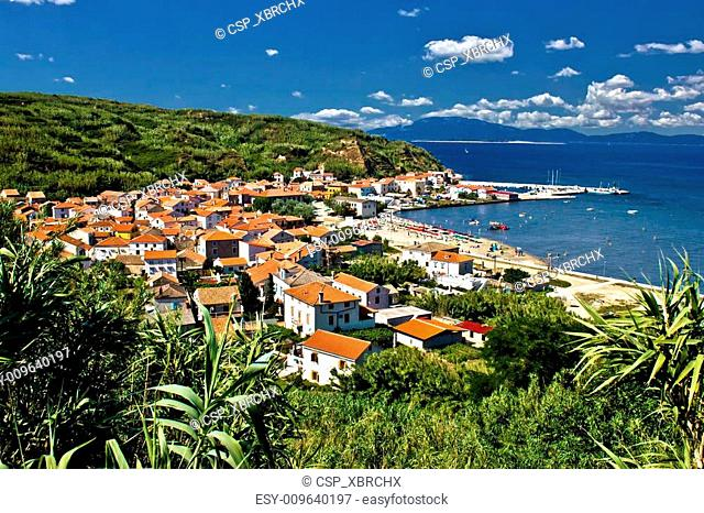 Dalmatian island of Susak village and harbor