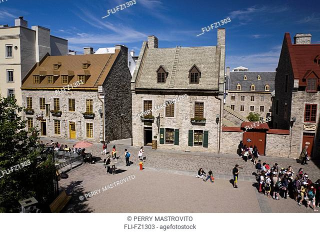 Tourists on Notre-Dame street in Old Quebec City, Quebec, Canada