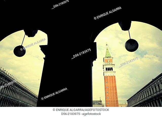 Campanile di San Marco, Piazza San Marco, San Marco, Venice, Veneto, Italy, Europe