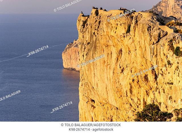 Mirador de Sa Creueta, punta de La Nao,peninsula de Formentor, Pollença, Parque natural de la Sierra de Tramuntana, Mallorca,Islas Baleares, Spain