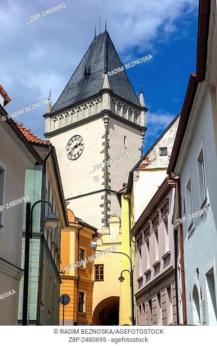 Town Hall Tower Tabor - the city of Hussites, South Bohemia, Czech Republic
