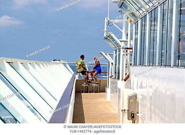 Romantic rendezvous on board of cruise ship