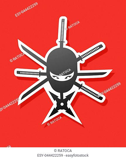Creative design of nice ninja sticker
