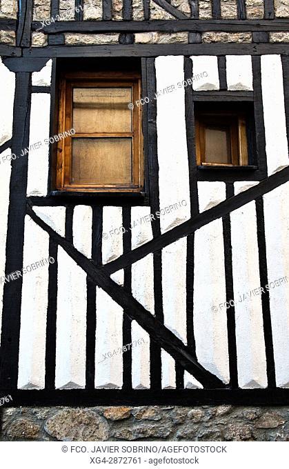 Fachada con entramado de madera - La Alberca - Salamanca - Castilla-León - España - Europa