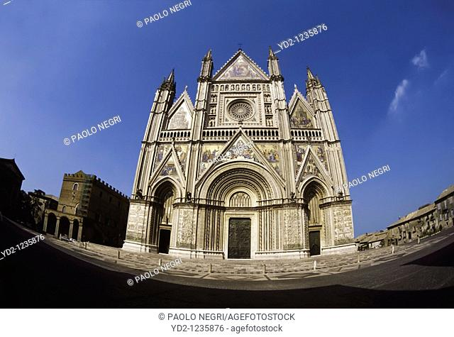 Italy, Umbria, Orvieto, Cathedral, west front