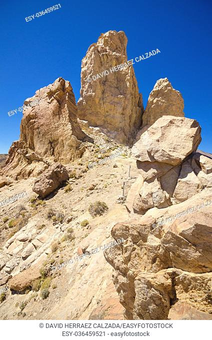 famous volcanic landscape in Teide National Park, Tenerife, Canary islands, Spain