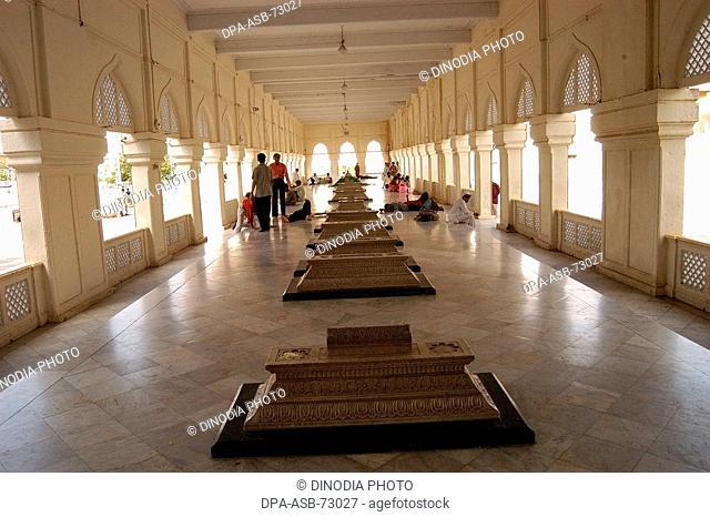 Macca Masjid Graves of Asif Jahi kings of Hyderabad , Andhra Pradesh, India