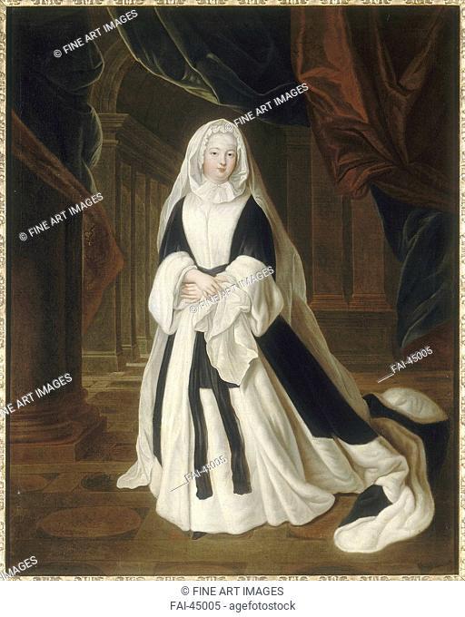 Louise Françoise de Bourbon (1673-1743), Mademoiselle de Nantes by Gobert, Pierre (1662-1744)/Oil on canvas/Rococo/c. 1710/France/Musée de l'Histoire de France