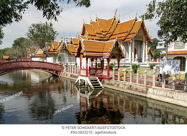 Wat Benchamabophit Dusitvanaram the marble temple, Bangkok, Thailand, Asia