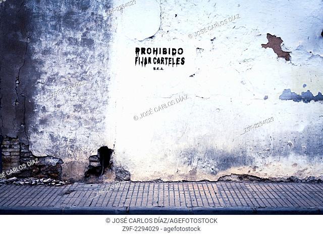 Graffiti: No pasting posters, Sollana, Valencia