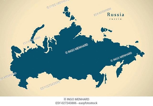 Modern Map - Russia RU illustration