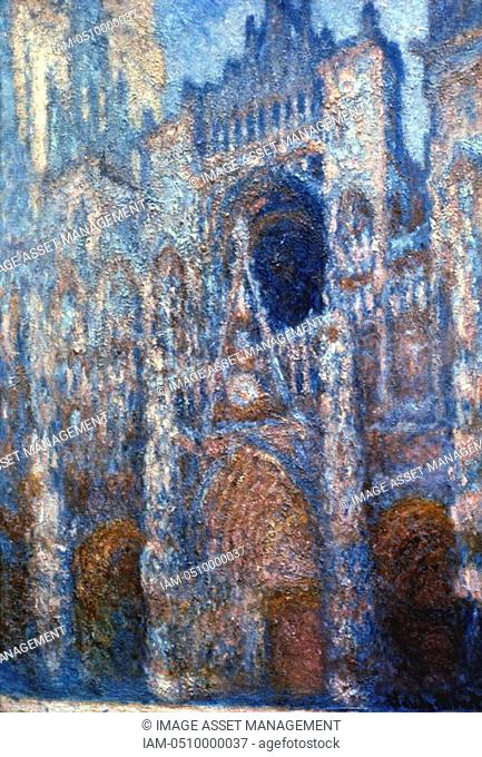 Rouen Cathedral, Sunlight' 1894: Claude Monet 1840-1926 French artist. Oil on canvas