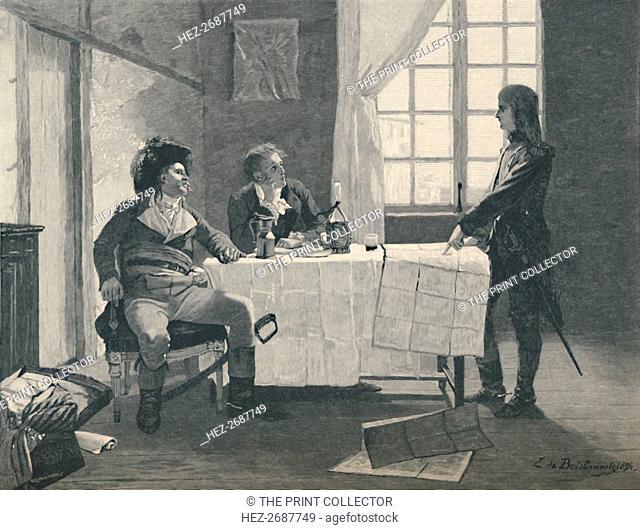 'Bonaparte, Turreau, and Volney at Nice in 1793', (1896). Artist: E.G.H. Del'Orme