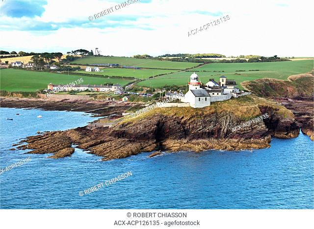 Roches Point and Roches Point Lighthouse marking the entrance to Cork Harbour and Cobh, Ireland