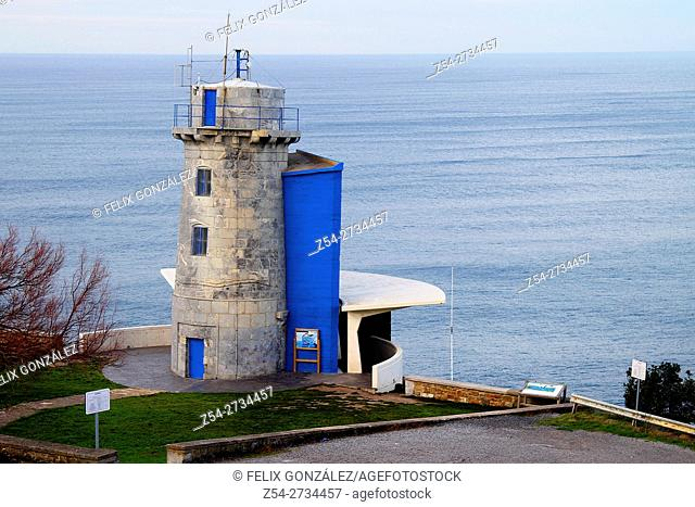 Old Lighthouse Cape Machichaco, Bermeo, Bay Of Biscay, Basque Country, Spain