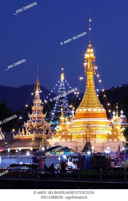Wat Jong Klang & Wat Jong Kham in Mae Hong Son, Thailand