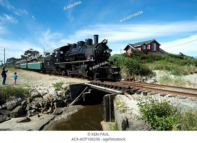 Oregon Coast Scenic Railroad in Rockaway Beach, Oregon, USA