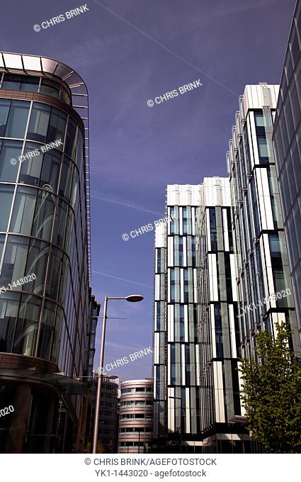 Modern architecture in Spinningfields Manchester UK