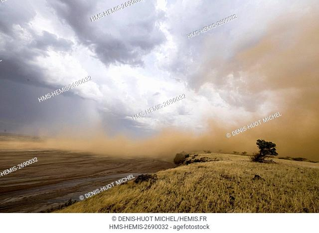 Kenya, lake Magadi, Little Magadi, dust wind