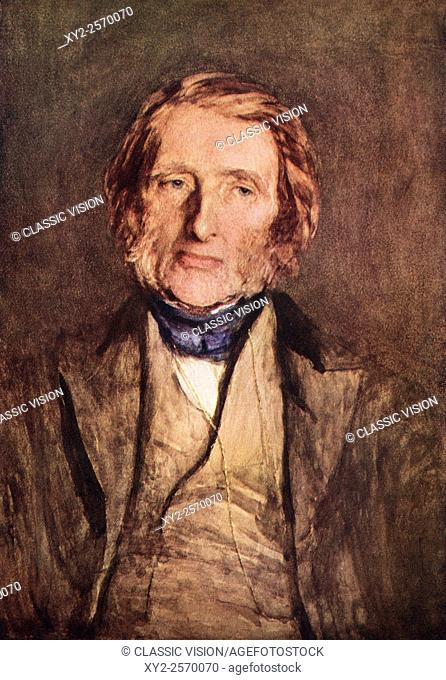 John Ruskin, 1819 - 1900. English art critic of the Victorian era, art patron, draughtsman, watercolourist,prominent social thinker and philanthropist