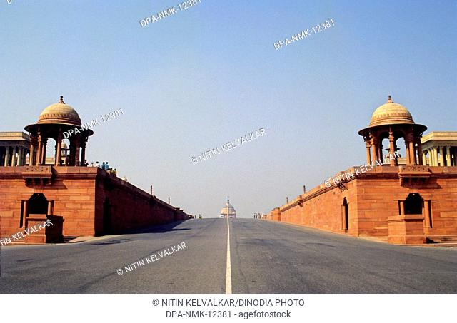 View of Rashtrapati Bhavan from Rajpath , New Delhi , India