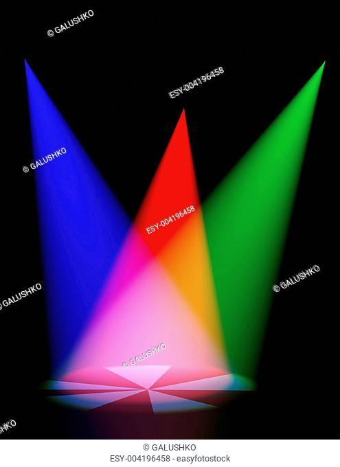 Volumetric color light