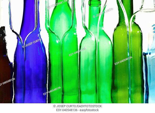 close up of bottle on white background,