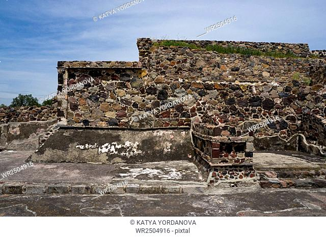 Ruins of a building, Teotihuacan, Mexico City, Mexico