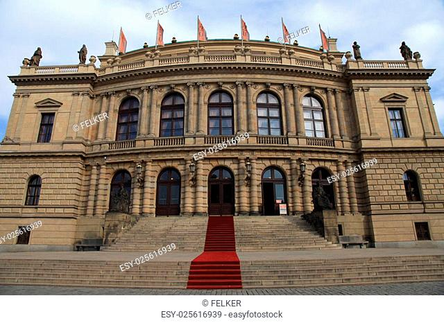 PRAGUE, CZECH REPUBLIC - OCTOBER 4, 2015: The Rudolfinum - a music auditorium and art gallery in Prague, Czech Republic. Rudolfinum is home to the Czech...