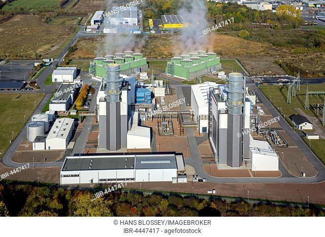 Trianel gas power plant, gas turbine power plant, Hamm, Ruhr district, North Rhine-Westphalia, Germany