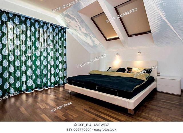 Modern bedroom at home