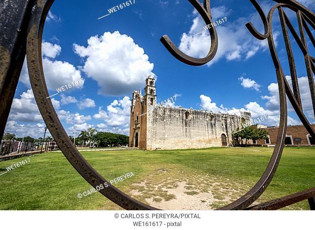 Parroquia de Nuestra Senora de la Asuncion church in the village of Tecoh in Yucatan Mexico