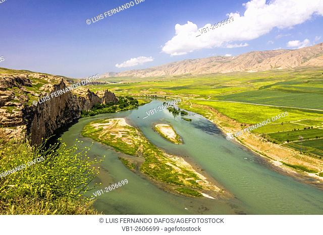 Tigris river and valley near Hasankeyf, a historical Kurdish town, threatened to vanish underwater after the completion of the Ilisu Dam
