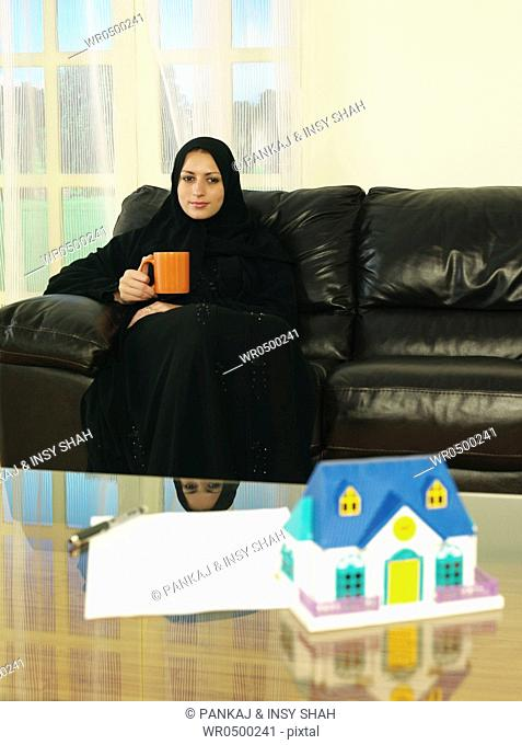 Arab lady on a relaxation