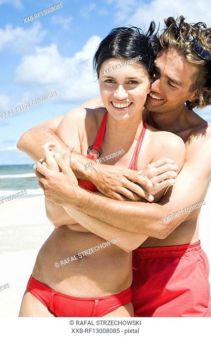 couple in love on beach