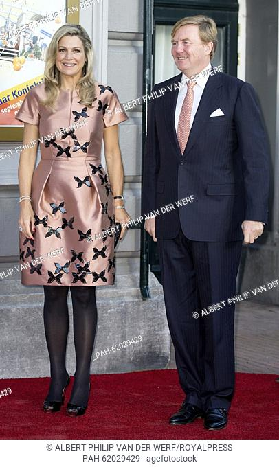 King Willem-Alexander and Queen Maxima of The Netherlands attend the closure event of the celebration of 200 years kingdom of the Netherlands at Carre at the...