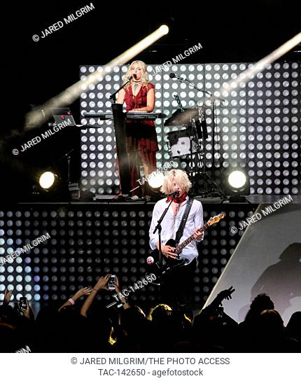 Ross Lynch and sister Rydel Lynch of R5 performs at the Greek Theatre on August 23rd, 2015 in Los Angeles, California