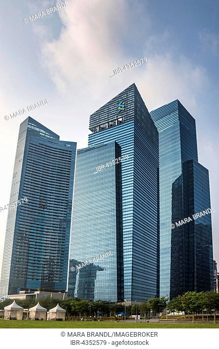 Financial district with skyscrapers, Singapore