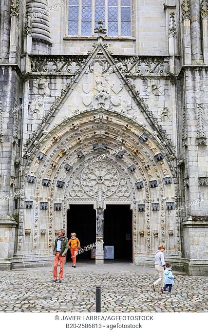 Cathedral of Saint-Corentin, Quimper, Bretagne, Brittany, France